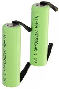 2x AA battery mit Anschlussstellen (2500 mAh, Wiederaufladbar)